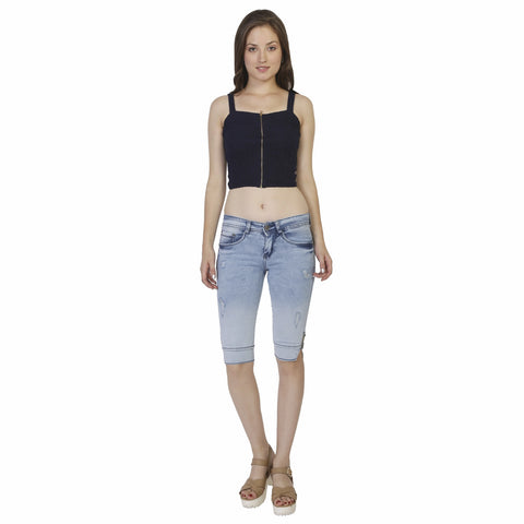 Studio 18 Women's Knee-length Denim Short Capri