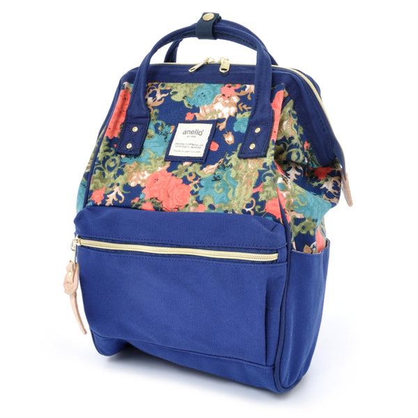 anello Backpack Mini AT-B0487 (Flower Navy)