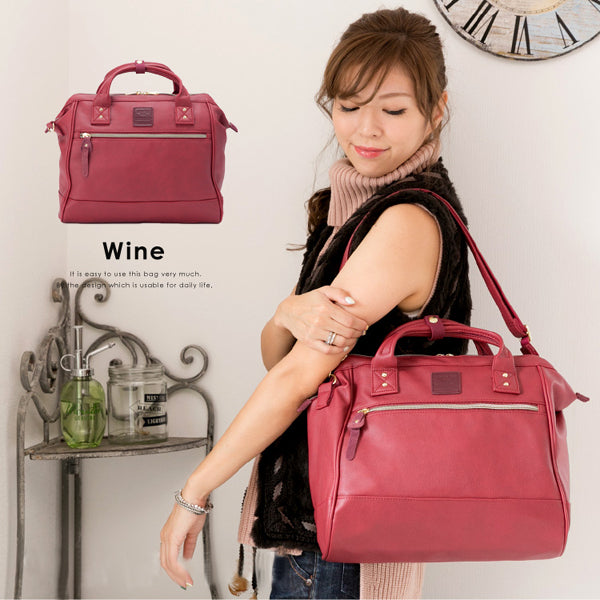 anello Boston 2-Way Shoulder Bag AT-H1022 (Wine)