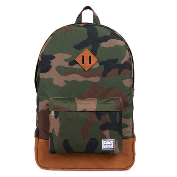 Herschel Heritage Backpack (Woodland Camo & Tan) 21.5L