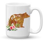 Mama Bear Watercolor Coffee Mug - 15 oz - Coffee Mugs - AKA Style Co - 2