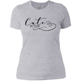 Cute but Psycho Ladies T-Shirt XS-3XL - Heather Grey / X-Small - Short Sleeve - AKA Style Co - 3