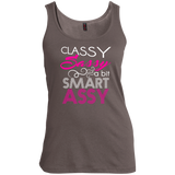 Classy Sassy and a bit Smart Assy Ladies T-Shirt or Tank Top - Women's Scoop Neck Tank Top / Warm Grey / Small - Apparel - AKA Style Co - 1