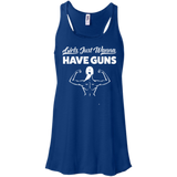 Girls Just Wanna Have Guns Ladies Gym Tank Top - Flowy Racerback Tank / Royal / Small - Workout Apparel - AKA Style Co - 9