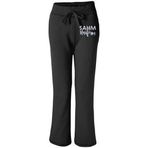 SAHM Uniform Sweatpants or Cropped Pants - Women's Open Bottom Sweatpants with Pockets / Black / Small - Comfy Pants - AKA Style Co - 1