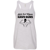 Girls Just Wanna Have Guns Ladies Gym Tank Top - Flowy Racerback Tank / Grey / Small - Workout Apparel - AKA Style Co - 7