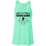 Girls Just Wanna Have Guns Ladies Gym Tank Top - Flowy Racerback Tank / Mint / Small - Workout Apparel - AKA Style Co - 4