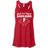 Girls Just Wanna Have Guns Ladies Gym Tank Top - Flowy Racerback Tank / Red / Small - Workout Apparel - AKA Style Co - 8