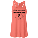 Girls Just Wanna Have Guns Ladies Gym Tank Top - Flowy Racerback Tank / Coral / Small - Workout Apparel - AKA Style Co - 5