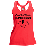 Girls Just Wanna Have Guns Ladies Gym Tank Top - Loop Back Tank / Coral / Small - Workout Apparel - AKA Style Co - 11