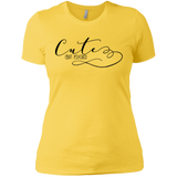 Cute but Psycho Ladies T-Shirt XS-3XL - Vibrant Yellow / X-Small - Short Sleeve - AKA Style Co - 8