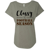 Classy til Football Season Ladies or Unisex T-Shirt S-3XL - Ladies Scoop Neck Tee / Grey / Small - T-Shirts - AKA Style Co - 5