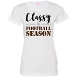 Classy til Football Season Ladies or Unisex T-Shirt S-3XL - Ladies Crew Neck Tee / White / Small - T-Shirts - AKA Style Co - 7