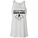Girls Just Wanna Have Guns Ladies Gym Tank Top - Flowy Racerback Tank / White / Small - Workout Apparel - AKA Style Co - 3