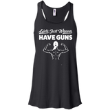 Girls Just Wanna Have Guns Ladies Gym Tank Top - Flowy Racerback Tank / Black / Small - Workout Apparel - AKA Style Co - 10