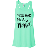 'You Had Me At Merlot' Flowy Racerback Tank S-2XL