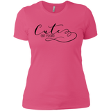 Cute but Psycho Ladies T-Shirt XS-3XL - Hot Pink / X-Small - Short Sleeve - AKA Style Co - 4