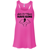 Girls Just Wanna Have Guns Ladies Gym Tank Top - Flowy Racerback Tank / Neon Pink / Small - Workout Apparel - AKA Style Co - 6