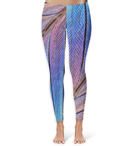 Hummingbird Feather Macro Photography Leggings - XS - Leggings - AKA Style Co - 1