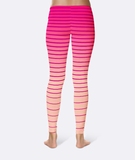 Pink Gradient Stripe Leggings -  - Leggings - AKA Style Co - 2
