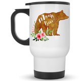 Mama Bear Watercolor Coffee Mug - 14 oz. Travel Mug - Coffee Mugs - AKA Style Co - 3