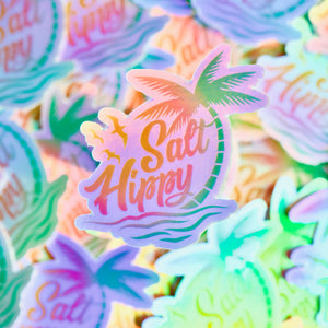 salt hippy holographic sticker