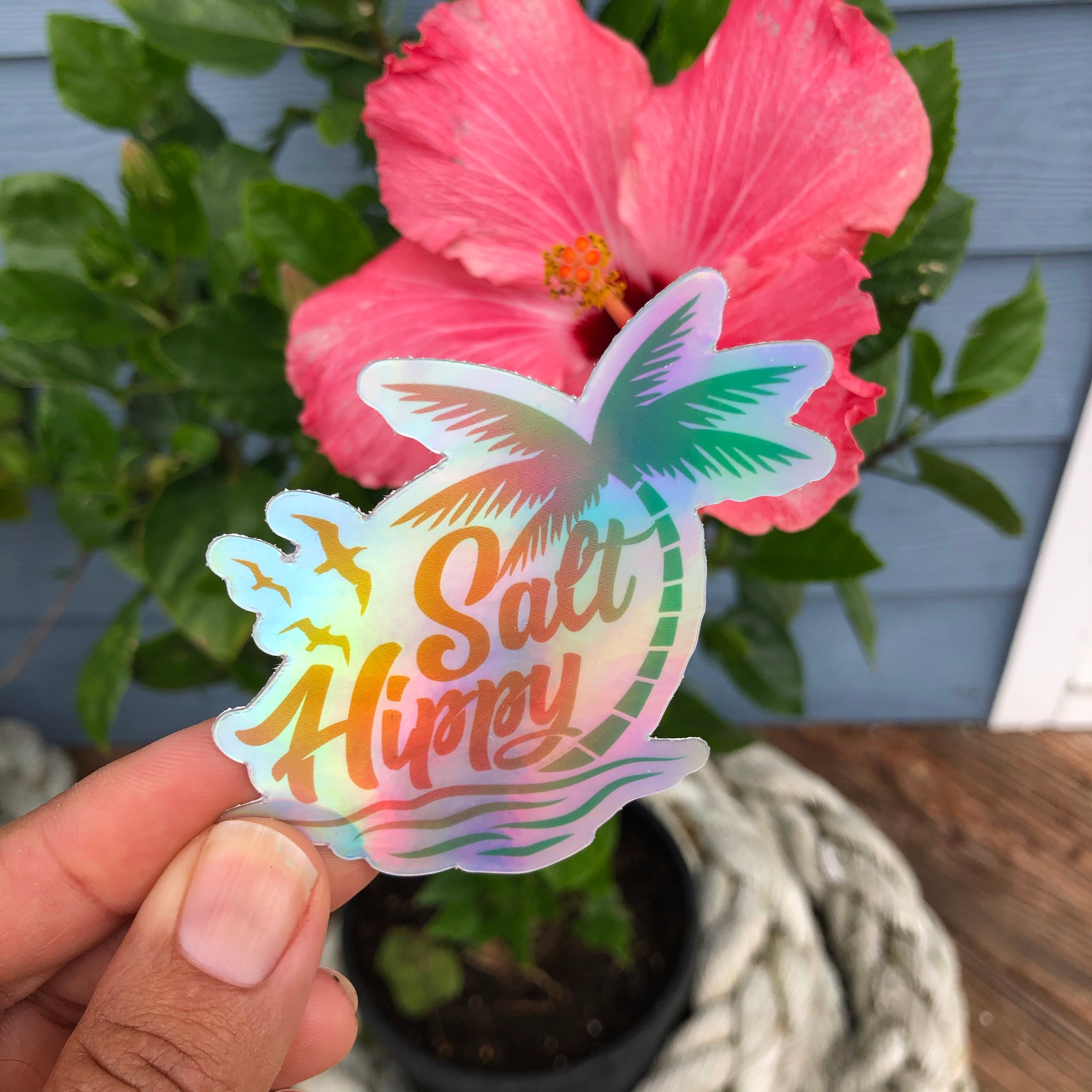Limited Edition Holographic Salt Hippy Vinyl Sticker