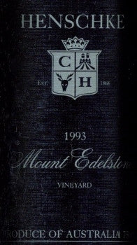 Henschke Mount Edelstone Shiraz 1993 750ml, Eden Valley
