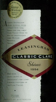 Leasingham Classic Clare Shiraz 1994 750ml, Clare Valley