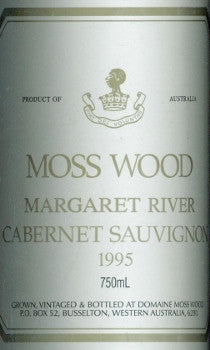 Moss Wood Cabernet Sauvignon 1995 750ml, Margaret River