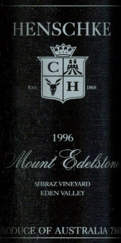 Henschke Mount Edelstone Shiraz 1996 750ml, Eden Valley