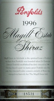 Penfolds Magill Estate Shiraz 1996 750ml, South Australia