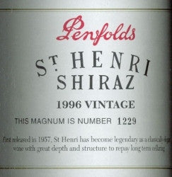 Penfolds St Henri Shiraz 1996 1.5L, South Australia