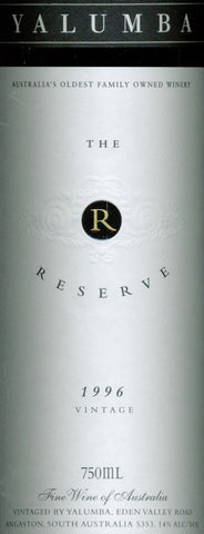 Yalumba Reserve Cabernet Sauvignon Shiraz 1996 750ml, Barossa Valley
