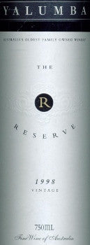 Yalumba Reserve Cabernet Shiraz 1998 750ml, Barossa Valley