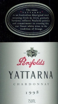 Penfolds Yattarna Chardonnay 1998 750ml, South Australia