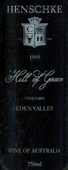 Henschke Hill of Grace Shiraz 1999 750ml, Eden Valley