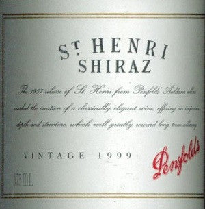 Penfolds St Henri Shiraz 1999 375ml, South Australia