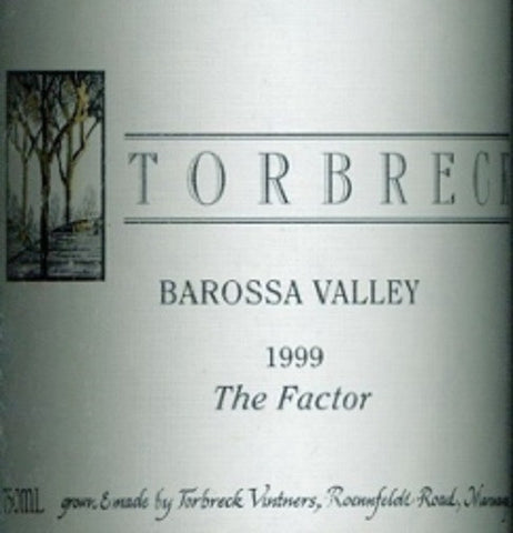 Torbreck The Factor Shiraz 1999 750ml, Barossa Valley