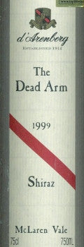 d'Arenberg The Dead Arm Shiraz 1999 750ml, McLaren Vale
