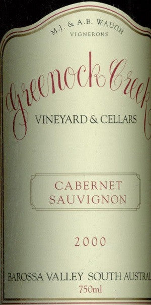 Greenock Creeek Cabernet Sauvignon 2000 750ml, Barossa Valley