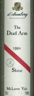 d'Arenberg The Dead Arm Shiraz 2000 750ml, McLaren Vale