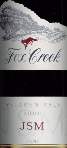 Fox Creek JSM Shiraz Cabernet Sauvignon Franc 2000 750ml, McLaren Vale