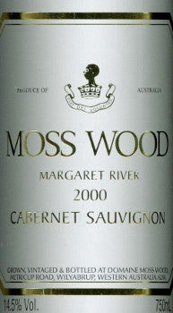 Moss Wood Cabernet Sauvignon 2000 750ml, Margaret River