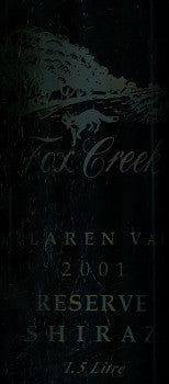 Fox Creek Reserve Shiraz 2001 1.5L, McLaren Vale