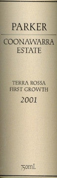 Parker Estate Terra Rossa First Growth Cabernet Sauvignon 2001 750ml, Coonawarra