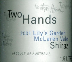 Two Hands Lily's Garden Shiraz 2001 1.5L, McLaren Vale