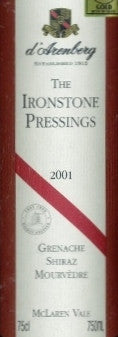 d'Arenberg Ironstone Pressings GSM 2001 750ml, McLaren Vale