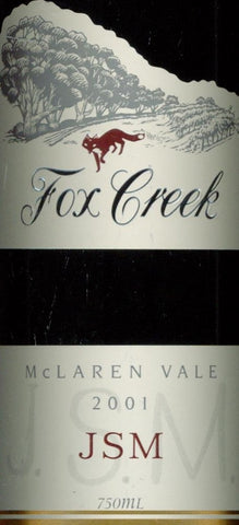 Fox Creek JSM Shiraz Cabernet Sauvignon Franc 2001 750ml, McLaren Vale
