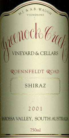 Greenock Creek Roennfeldt Road Shiraz 2001 750ml, Barossa Valley